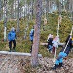 Aktivitet i klatreparken