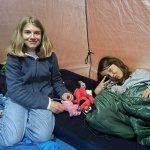 Kos i teltet