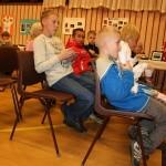 Publikum på første rad. Foto: Marte Talgø