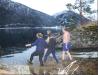 Isbading nyttårsaften 2012