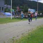 Frå venstre i full fart; Ola, Kevin, Marit Ingeborg og Emma. Foto: Marte Talgø