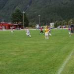 Fotballtrening foregår samtidig. Foto: Marte Talgø