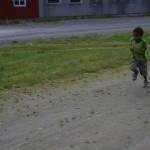Lars i innspurten på 400 meter. Foto: Marte Talgø