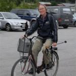 Marit Sanden Søyset kom på sykkel for å melde seg på turen. Foto: Jon Olav Ørsal