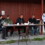 Sekretariatet ved starten på Bordholmen. Fra venstre Torill Talgø, Kristen Bruset, Jostein Bruset, Einar Talgø og Sissel Redalen som skulle gå over fjellet. Foto: Jon Olav Ørsal