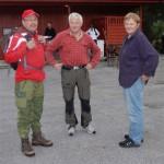 Terje N. hadde startnr 1! Her saman med Martin og Ingjerd Melhuus. Foto: Jon Olav Ørsal