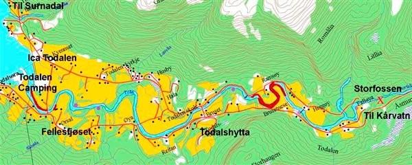 todalen kart Elva Toåa | Todalen.no todalen kart