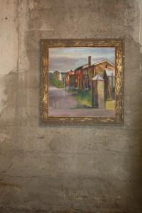 Måleri av Olav Halse; motiv frå Røros.