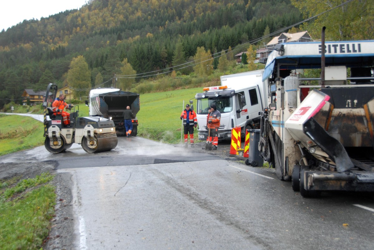 Asfaltlegging på Nordvik