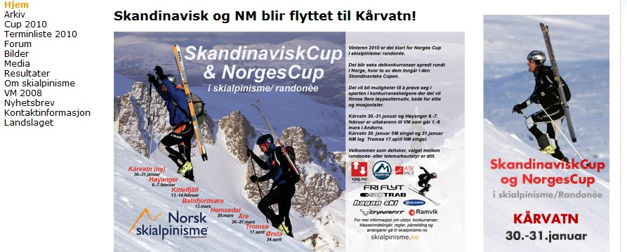 Skandinavisk  og  NM  på  Kårvatn  neste  helg