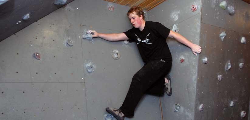 Jan Vidar i klatreveggen