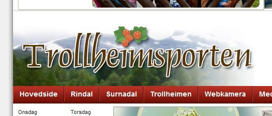 Trollheimsporten  har  fått  ny  nettside