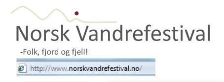 Norsk  Vandrefestival  søker  bidragsytarar