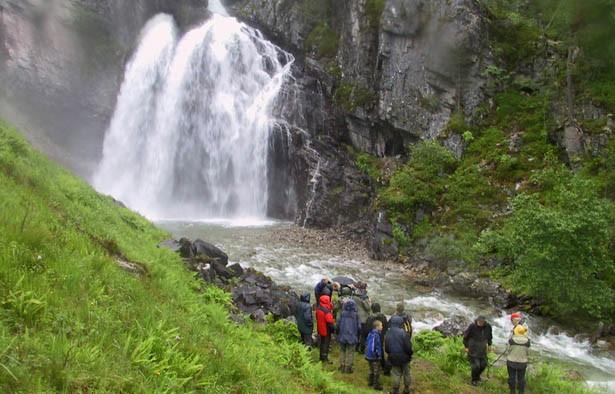 Norsk vandrefestival – opning ved Nauståfossen