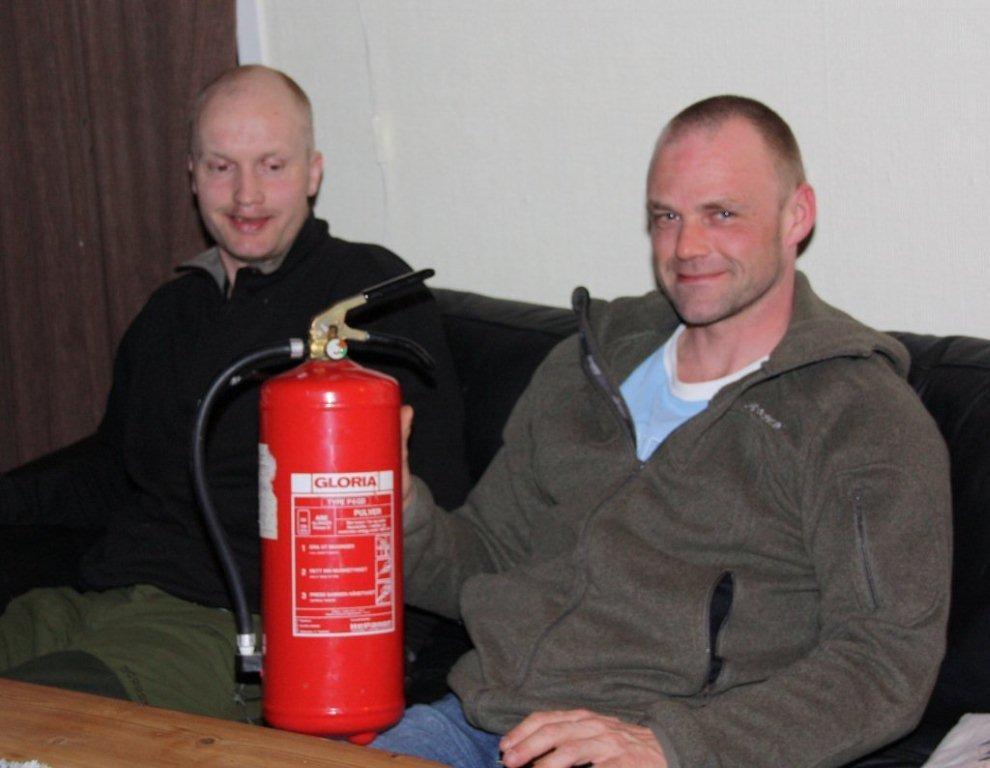 Kontroll av brannslokkingsapperat