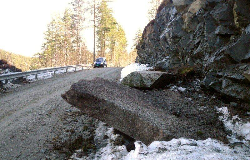 Steinsprang oppi Dalavegen