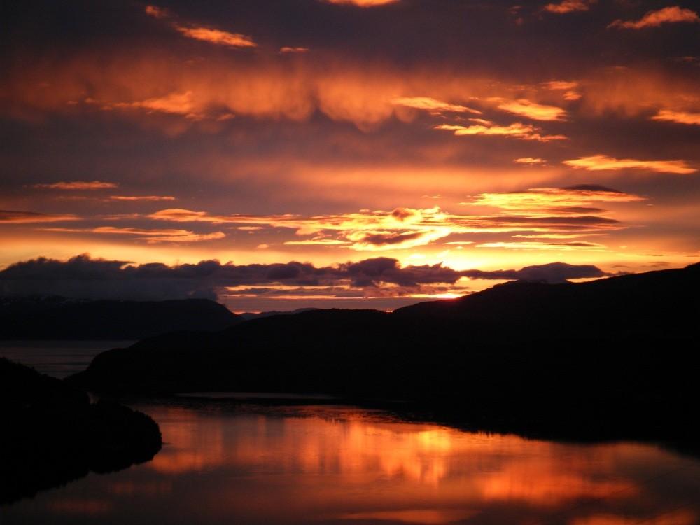 Månadens bilete: Flott solnedgang