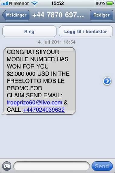SMS terror