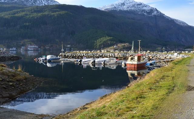 Båthamna på Kvennset.  Arkivfoto: Jon Olav Ørsal