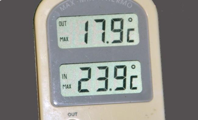 November starta med sommartemperatur
