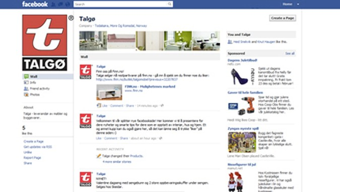 Talgø  på  Facebook