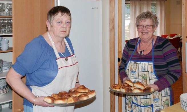 Grete Torvik og Karen Johanne Talgø.  Illustrasjonsbilete: Eldremiddagen