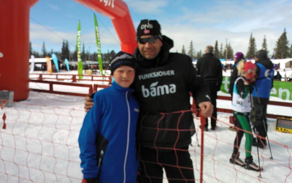 På skiskyttarfestival med Bjørndalen
