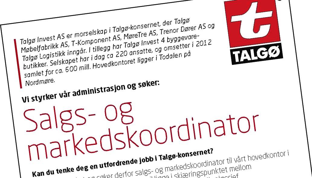 Jobb hos Talgø?
