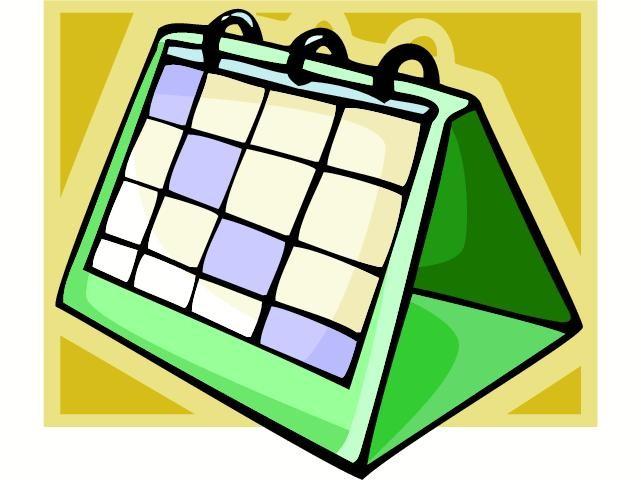 Oppdatert aktivitetskalender