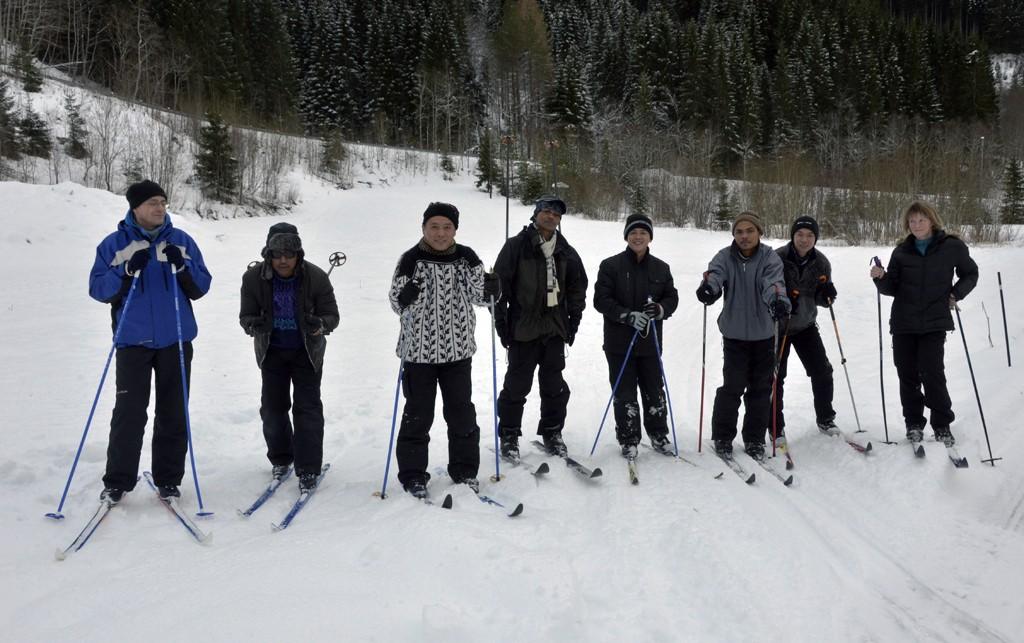 På ski for første gong…