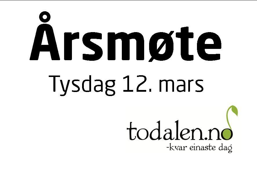 Todalen.no – tid for årsmøte