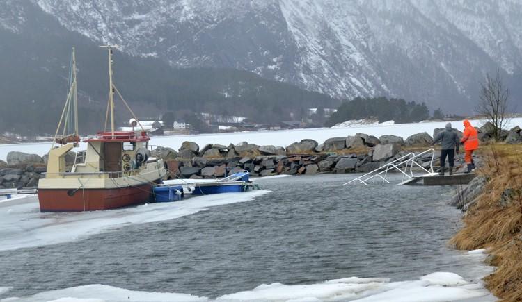 Båthavna  er  skadd