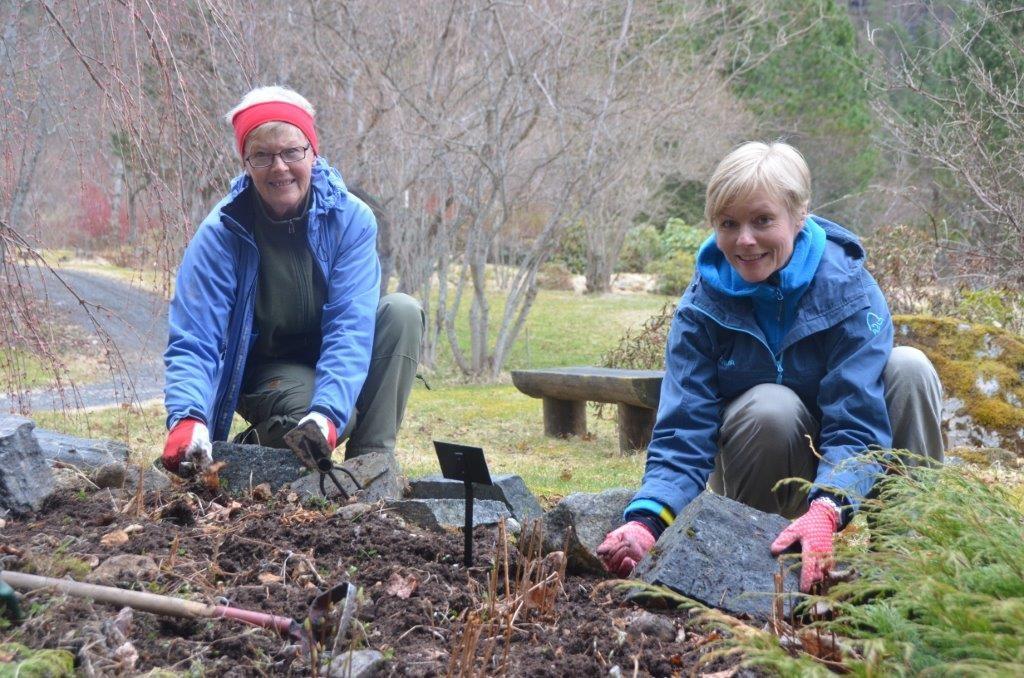 Dugnad: Klare for ny sesong i arboretet