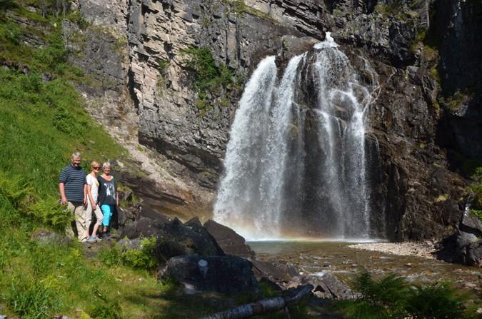 Kortreist til Nauståfossen