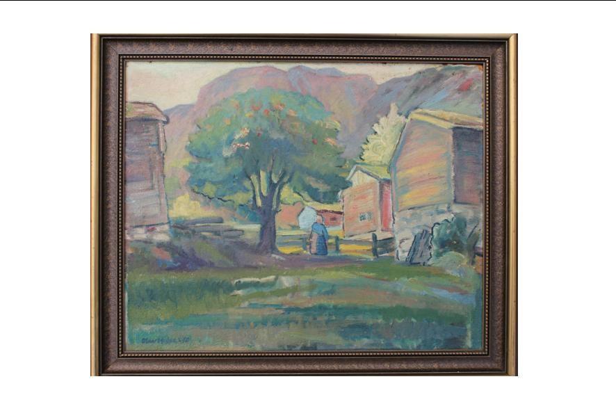 Halse-måleri på auksjon på Halsadagen 8. september