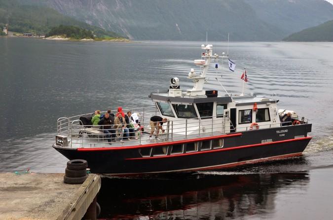 Første båtruta på Todalsfjorden sia dampen