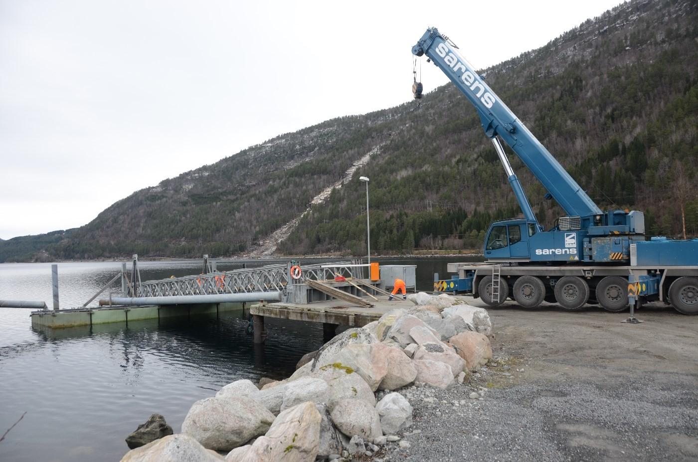 Klart for demontering og frakting til beredskapslageret på Skodje.  Foto: Jon Olav Ørsal