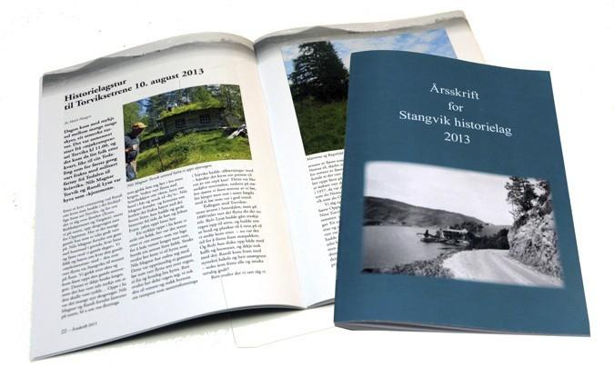 Årsskriftet har 60 sider med interessant lokalhistorie fra gamle Stangvik kommune.  Foto: Jon Olav Ørsal