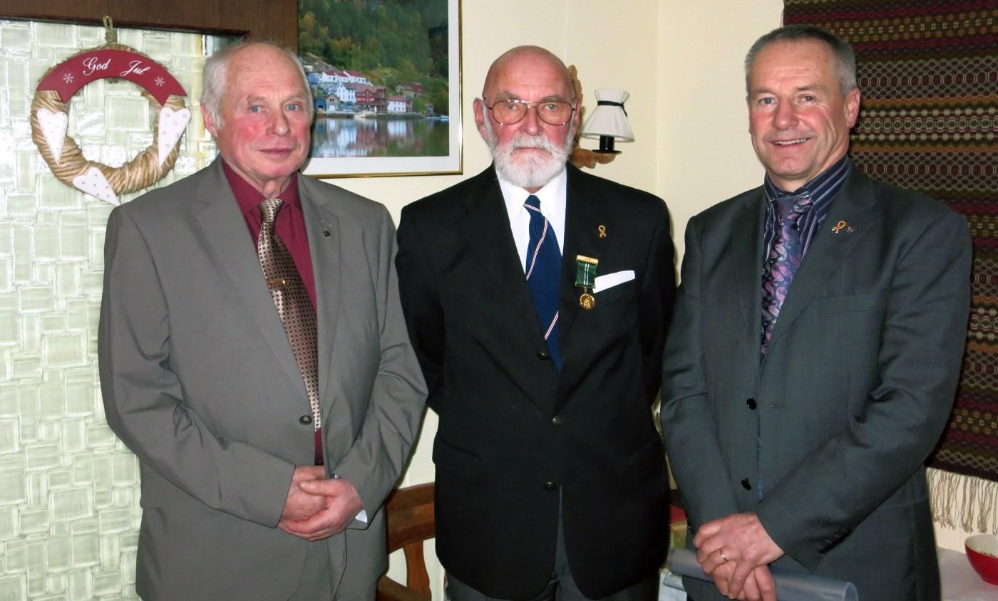 Fra venstre Olav Jostein Holten, Sjur Fedje og Harald Valved.  Foto: Jon Olav Ørsal