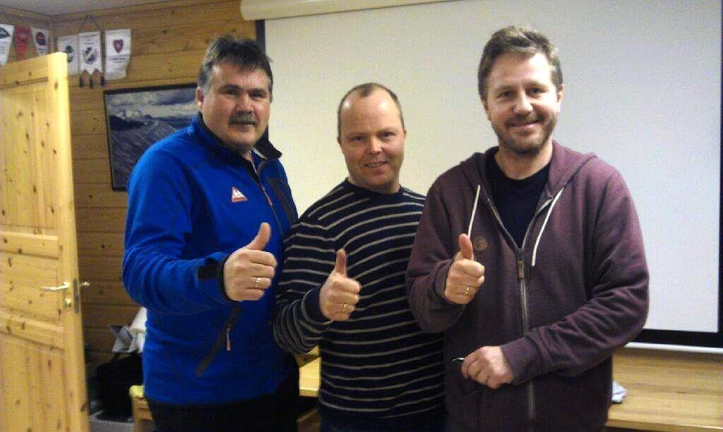 Vi ser fram til en ny sesong med godt samarbeid med våre gode naboerfra venstre Idar Ansnes (Kvass/Ulvungen FK),Kenneth Bergstad (Idrettslaget Søya) og Knut J. Bergli (Todalen IL)  Foto: I.L. Søya