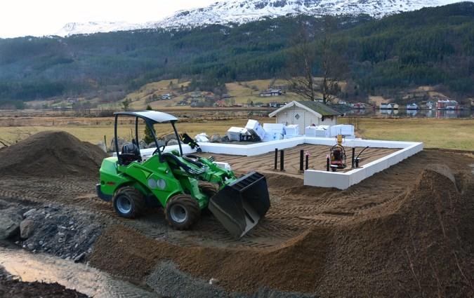 Klart for støyping av ringmur og plate på Sissibu.  Foto: Jon Olav Ørsal