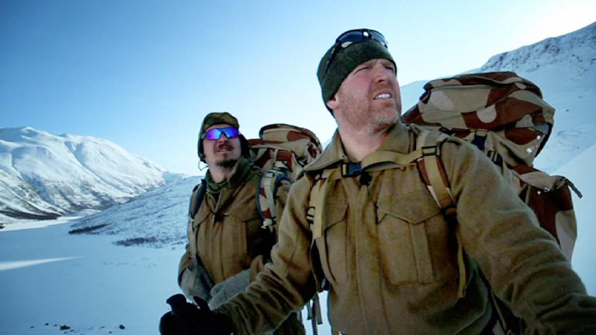 Rune Gjeldnes og Ronny Bratli fikk ein strevsam tur.  Foto frå NRK.no