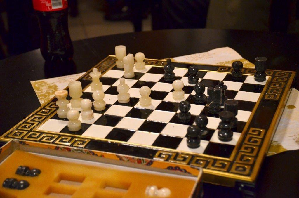 Sjakk på Matkroken 1. nyttårsdag kl 15  Arkivfoto