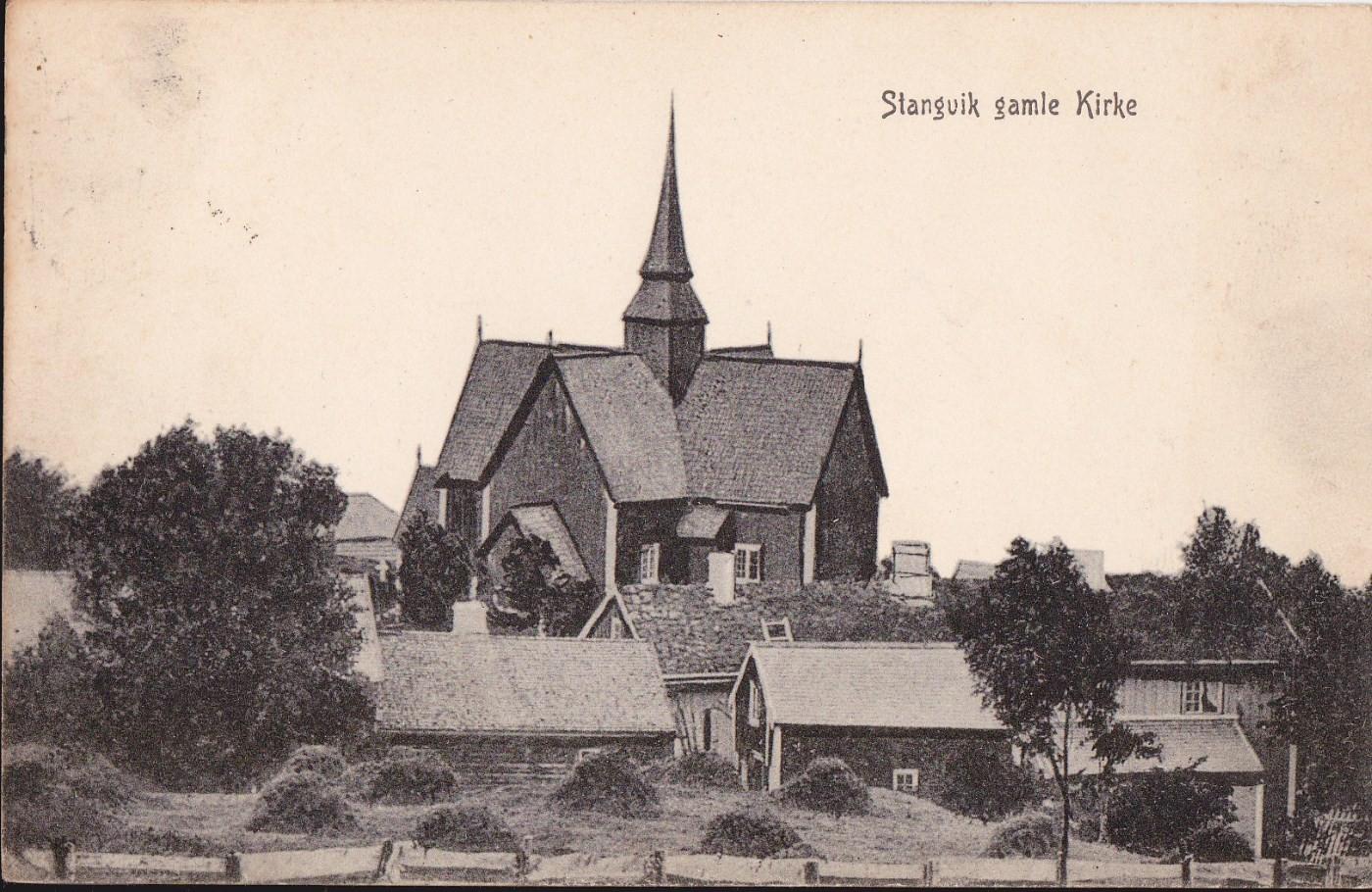 Stangvik kyrkje - korskyrkja frå 1784. Foto utlånt av Bernt G. Bøe