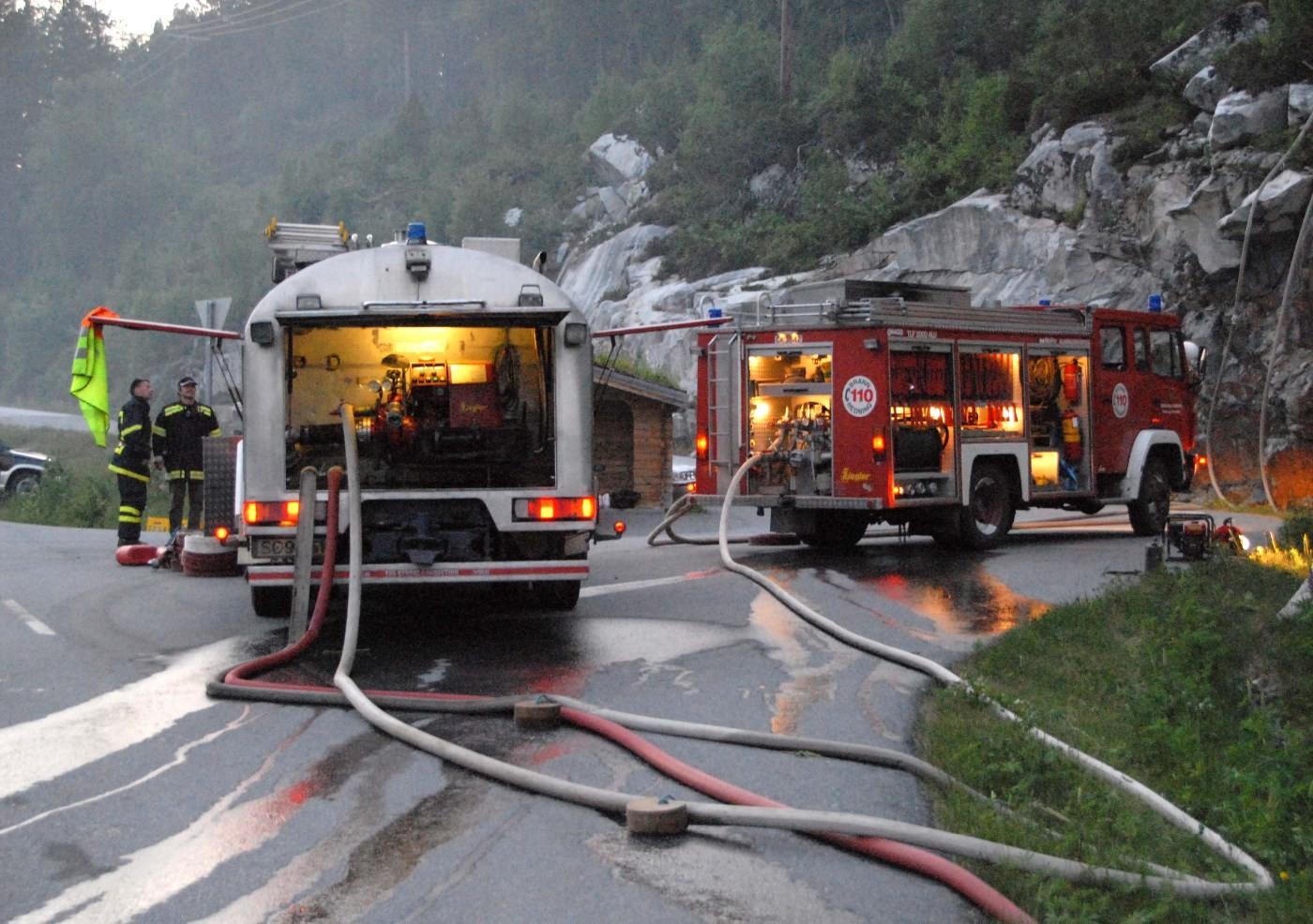 Illustrasjonsbilete - frå skogbrannen i 2007.  Arkivfoto. Jon Olav Ørsal