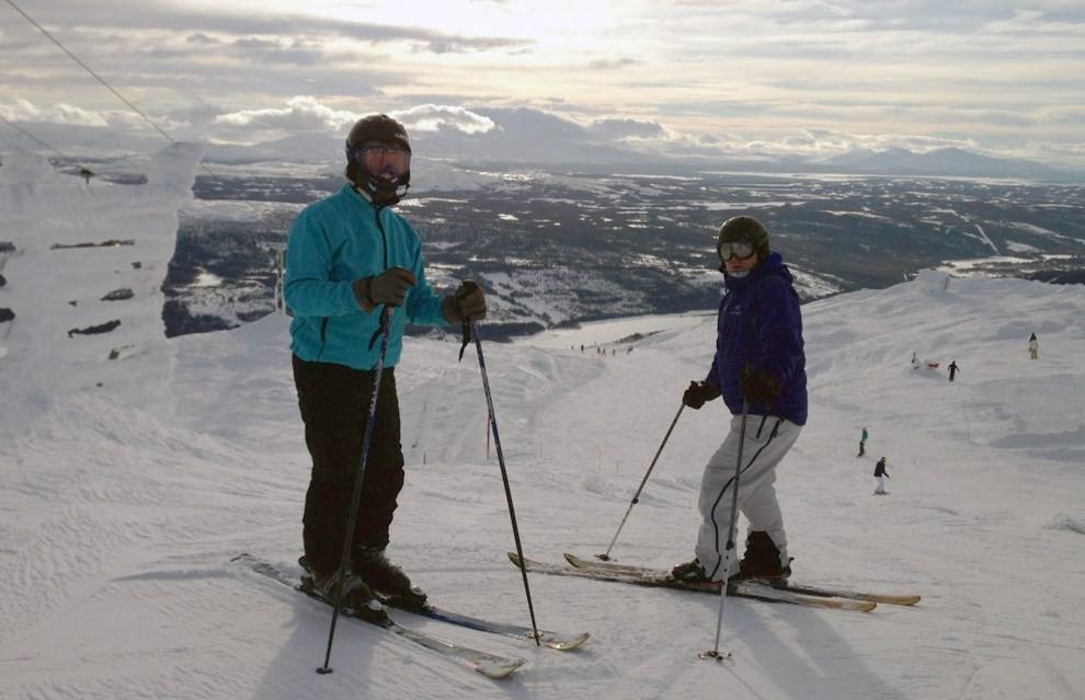 Magnus Snekvik og Bjørnar Brøske i Årefjellet.  Foto: Heid Snekvik