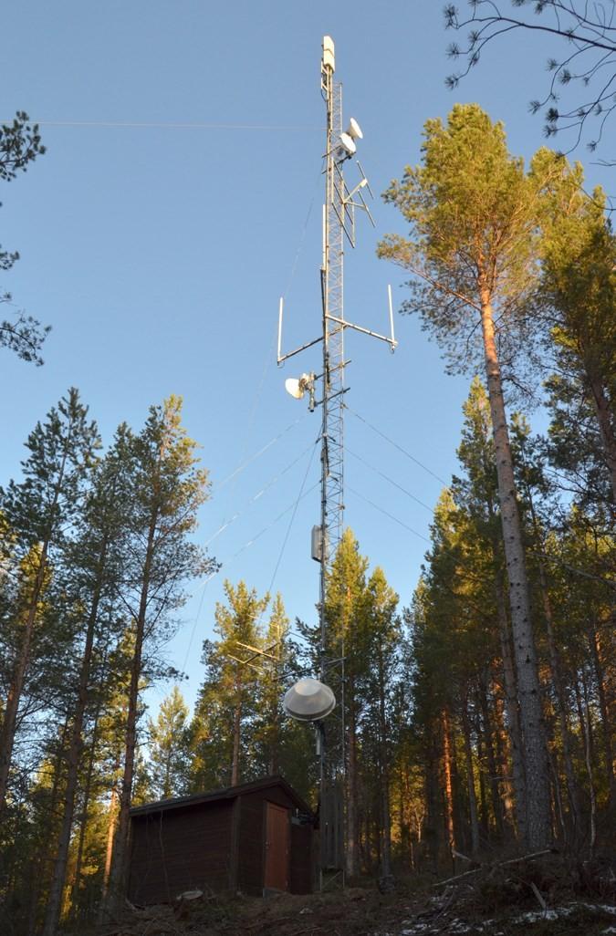 Todalen 2 ved Hjellnes. Herifrå sendes radio og TV-signala til Todalen.  Foto: Jon Olav Ørsal