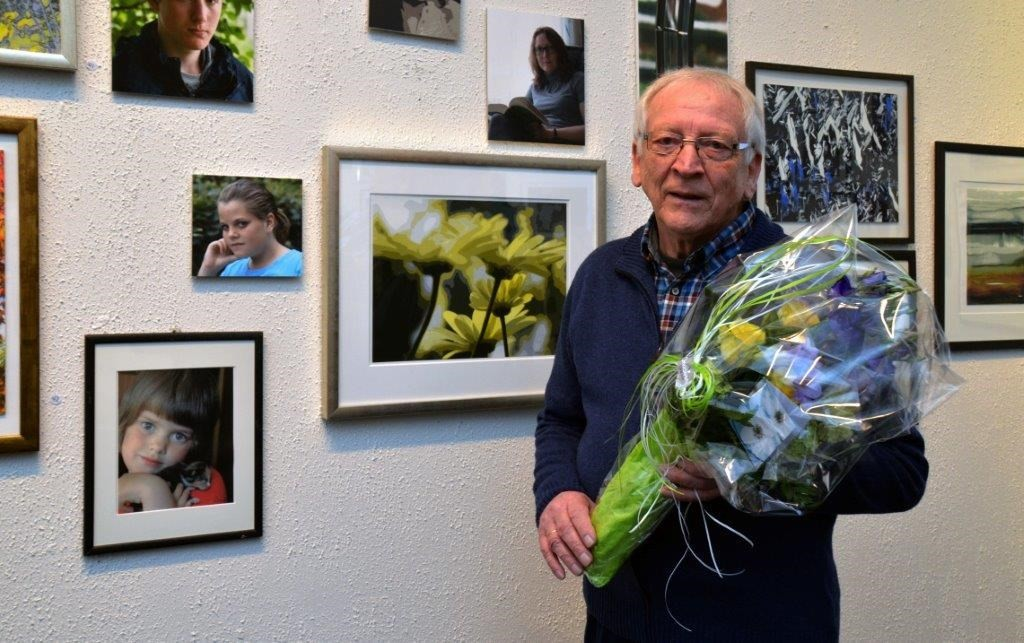 Reidar Østvik fikk mykje ros for utstillinga i Finstuå på kulturhuset.   Foto: Jon Olav Ørsal