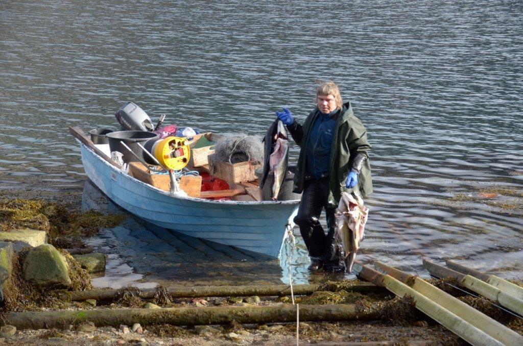Georg har gjort gode fangstar den siste tida.  Foto: Driva/Jon Olav Ørsal