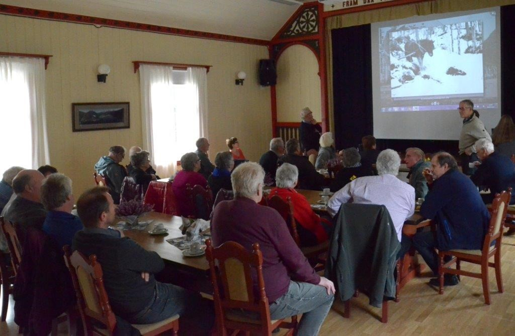 godal samla eit 40-tal interesserte til sitt foredrag om Todalsfurua.  Foto: Jon Olav Ørsal